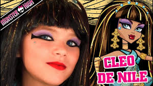 cleo de nile monster high doll costume makeup tutorial for