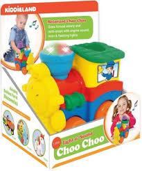 kiddieland развивающая игрушка паровозик со слоненком