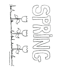Spring Coloring Pages Spring Coloring Pages Bee And Flowers Happy