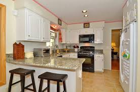 Kitchens With Black Appliances Kitchen Remodel White Cabinets Black Appliances Best Home