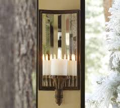 mirrored candle sconce pottery barn inside wall decor 0