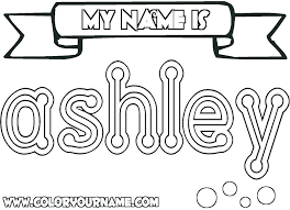 Coloring Pages With Names Design Your Own Page Create Name Best