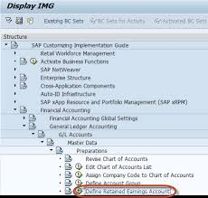 How To Define Retained Earnings Account In Sap
