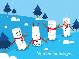 Holidays Snowman Winter Holidays Background Cute Snowman Icons Decor Free Vector In