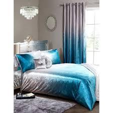 velvet bedding teal duvet cover blue crushed full set king