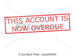 Overdue Account This Account Is Now Overdue Stamp This Account Is Now Overdue