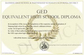 Ged Equivalent High School Diploma
