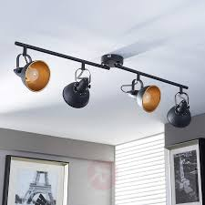 black and golden kitchen spotlight julin 4 bulbs 9620732 03