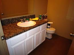 bathroom countertop makeover luxurious spray painted
