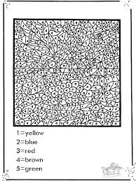 Difficult Color By Number Printables Funnycoloringcom Crafts