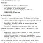 Tour Manager Resume Professional Tour Manager Templates To Showcase Your Talent in Tour 63
