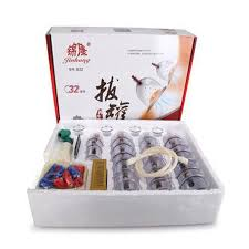 <b>32 Pieces</b> chinese <b>vacuum</b> cupping Cans <b>cups</b> kit pull out a <b>vacuum</b> ...