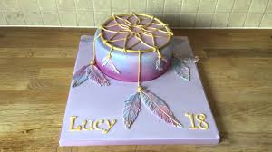 Dream Catcher Baby Shower Cake Dream catcher cake YouTube 33