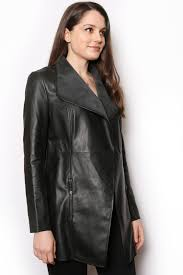 waterfall leather jacket colour black size 8