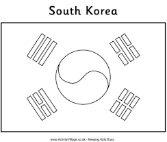 Small Picture 9 Images of Korean Flag Coloring Page South Korean Flag Coloring