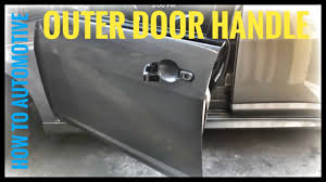 how to replace the front outer door handle and lock cylinder on a 2007 2011 nissan versa