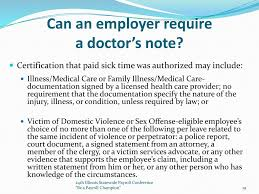 Doctors Note Requirement Cook County And Illinois Other Compliance Matters Ppt Download