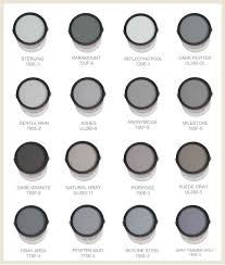 cool gray paint colorsSome of the best grays and blues are made by Behr This chart
