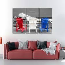 on patriotic canvas wall art with patriotic beach chairs pop multi panel canvas wall art elephantstock