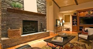 rustic fireplace design tile ideas modern chimney gas decor