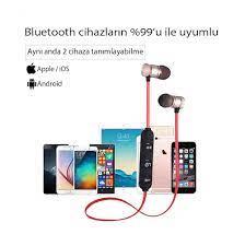 XT-6 Bluetooth Wireless Mıknatıslı Spor Kulaklık, Kablosuz Kulaklık