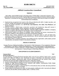 Oilfield Construction Consultant Resume