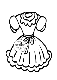 Small Picture dress coloring page for girls printable free
