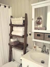 bathroom shelf unit above toilet shelf bathroom wall mounted butcher block white finish stained wooden frame bathroom shelf unit