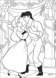 Small Picture Ariel And Eric Are Dancing coloring page Free Printable Coloring