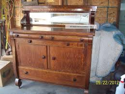 buffet sideboard antique cherry with glass doors