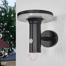 Zwarte Led Lamp Op Zonne Energie Eliano Sensor Lampen24nl