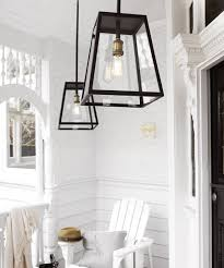 Southampton  Light Large Exterior Pendant In Antique Black - Black exterior light fixtures