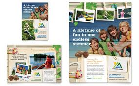 Summer Camp Pamplets Kids Summer Camp Flyer Ad Template Word Publisher