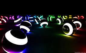 Light Balls Neon Wallpapers - Wallpaper ...
