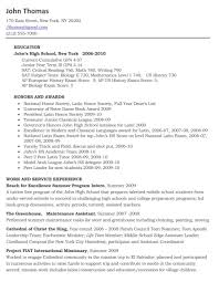 Fascinating Sample College Resume For High School Seniors On Example