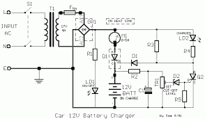 12v car battery charger schematic design