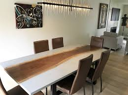 concrete and wood furniture. Live Edge Dining Table Measuring 84\ Concrete And Wood Furniture N