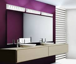 contemporary vanity lighting. A Modern Bathroom With Purple Walls And Ceramic Vanity Lights Contemporary Lighting I