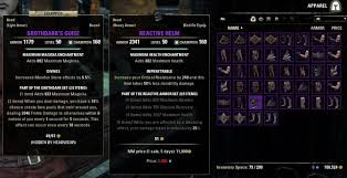 Light All The Heirlooms Eso Inventory Grid View Bags Bank Inventory Elder Scrolls