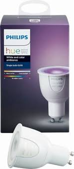 Philips Hue White and Color Ambiance GU10 Wi-Fi Smart LED Floodlight ...