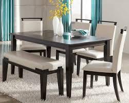 captivating dining room sets with bench 36 stylish black set contemporary design dark espresso trishelle furniture