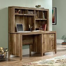 sauder dakota pass craftsman oak desk with hutch