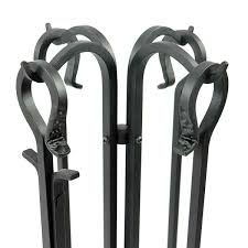 forged hearth fireplace toolset toolset handles feature a classic design