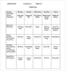 sample lesson plan outline one year old lesson plan template plan bee