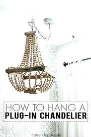 chandeliersplug in crystal chandelier swag impressive astounding lighting