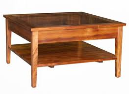 Interesting Glass Display Coffee Table With Lancaster Mission