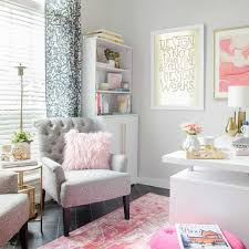 pink home office. Home Office An Ugly Mess? This Before And After Makeover Added Feminine Style Along With Pink