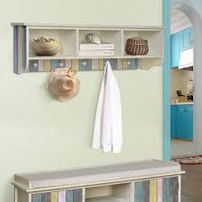 Coat Rack Organizer Wall Coat Racks Organizer Decorative Shelves Nautical Seaside Wood 38