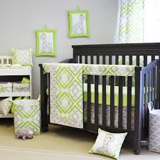 green and gray baby bedding from sweet kyla