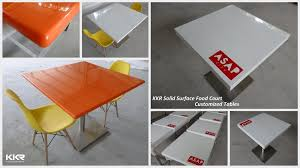 restaurant furniture corian solid surface table tops round shape